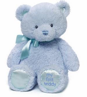Gund Baby Gund My 1st Teddy Plush Toy, Blue, 15