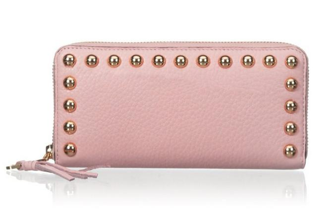 Rebecca Minkoff AVA Zip-Around Studded Wallet with Gift Box