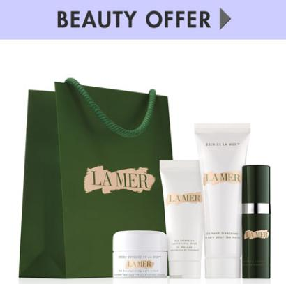 Free Cosmetic Bag + 4 pieces Samples with Any $350 La Mer Purchase @ Bergdorf Goodman