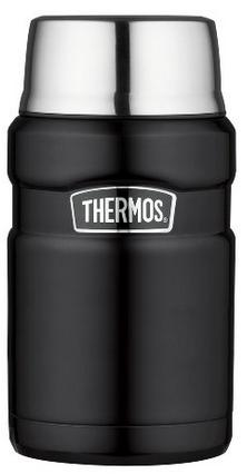 Thermos Stainless Steel King 24 Ounce Food Jar, Matte Black