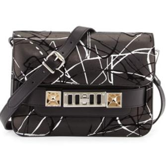 $929.25 Proenza Schouler PS11 Splatter-Print Bag
