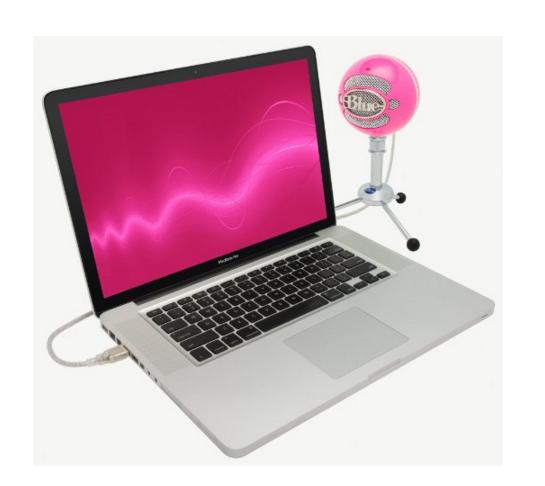 Blue Microphones Snowball USB Microphone (Gloss Black)/ Hot Pink