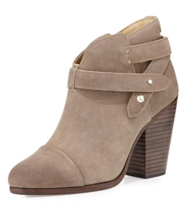 Rag & Bone Harrow Suede Ankle Boot, Stone