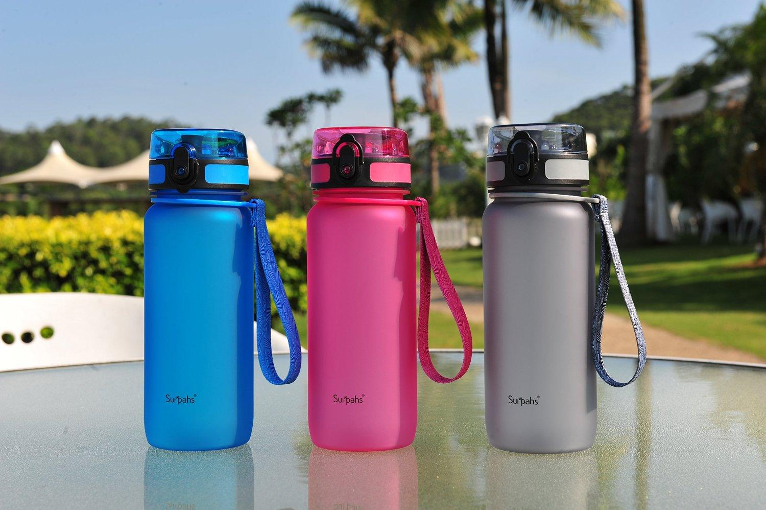 Surpahs Tritan BPA-Free 22oz Water Bottle