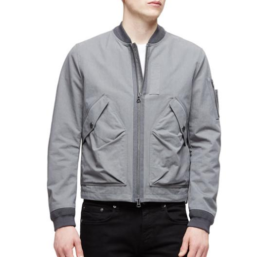 Burberry Brit Garment-Wash Zip-Up Jacket, Gray @ Neiman Marcus