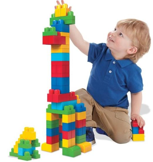 #1 Best Seller! Mega Bloks First Builders Big Building Bag, 80-Piece (Classic) @ Amazon
