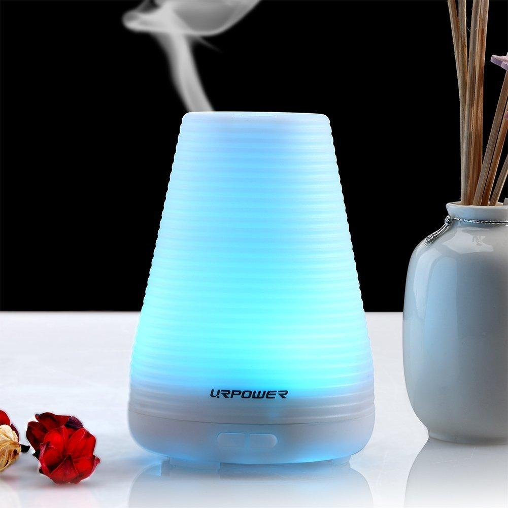 URPOWER Essential Oil Aromatherapy Diffuser, 100ml Humidifier