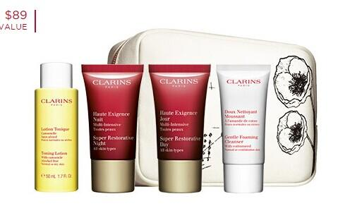 Free 5-Pc Gift with any $60 Purchase @ Clarins