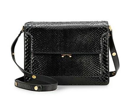 Marni Python Medium Triple-Gusset Shoulder Bag @ Saks Off 5th