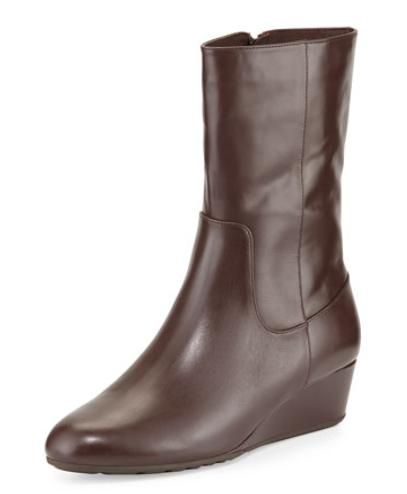 Cole Haan Tali GRAND O/S Short Leather Boot, Chestnut