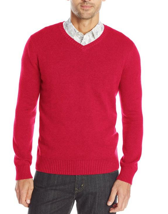 $10.70 Levi's Men's Clayer Solid V-Neck Sweater