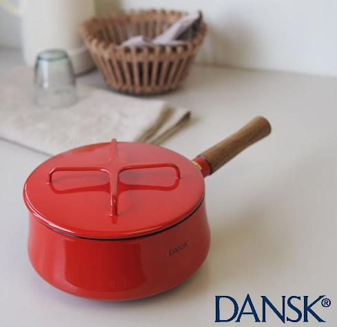 Dansk 834298 Kobenstyle Saucepan, 2-Quart, Chili Red