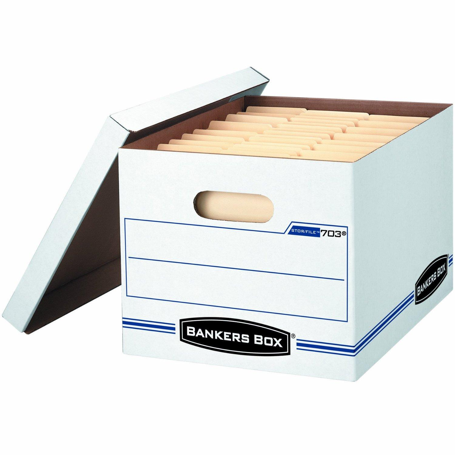 $19.99 Bankers Box Stor/File Storage Box with Lift-Off Lid, Letter/Legal, 12 x 10 x 15 Inches