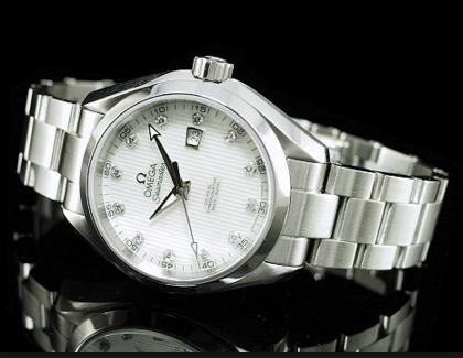 OMEGA Seamaster Aqua Terra Automatic Stainless Steel Ladies Watch@JomaShop.com