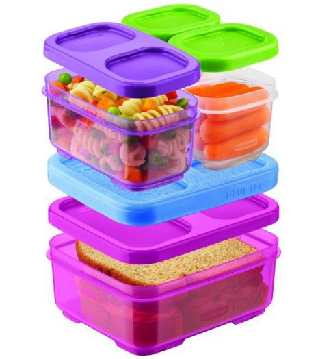 $7.92 Rubbermaid LunchBlox Kids Tall Lunch Bag Kit, Purple/Pink/Green @ Amazon
