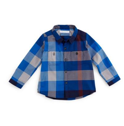 Burberry  Camber Twill Check Shirt, Size 3M @ Bergdorf Goodman