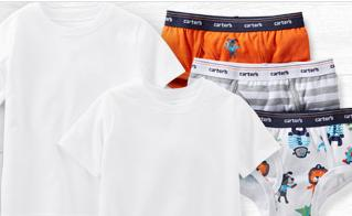 Up to 40% Off + Extra Up to 20% Off Children's Underwear @ Carter's