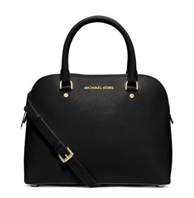 MICHAEL MICHAEL KORS Cindy Medium Saffiano Leather Satchel