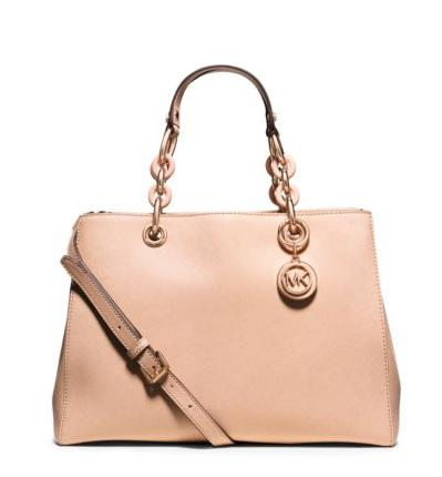 MICHAEL MICHAEL KORS  Cynthia Medium Saffiano Leather Satchel @ Michael Kors