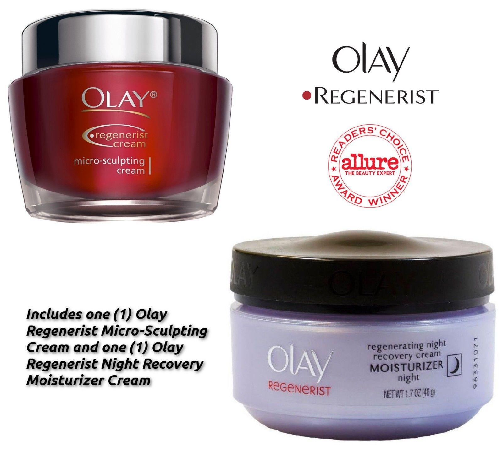 $19.99 Olay Regenerist Micro-Sculpting Hydration + Night Recovery Cream - 2 Piece Set