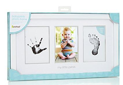 Pearhead Baby Prints Photo Frame with Clean-Touch Ink Pad Included, White @ Amazon