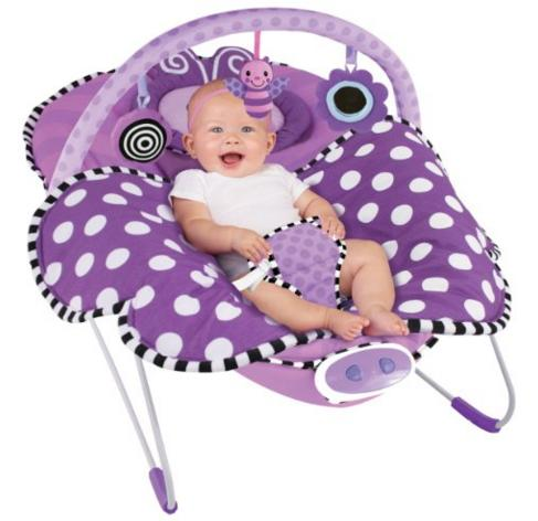 Sassy Cuddle Bug Bouncer, Violet Butterfly @ Amazon.com
