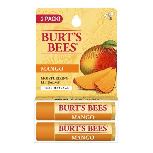 $4.99 Burt's Bees Lip Balm, Mango Butter, 0.15 Ounce (Pack of 2)