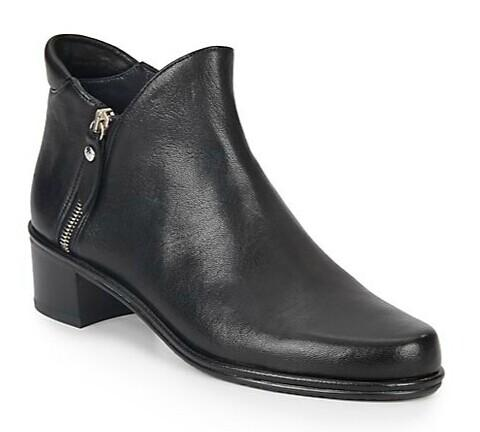 Stuart Weitzman Leather Zip Booties @ Saks Off 5th