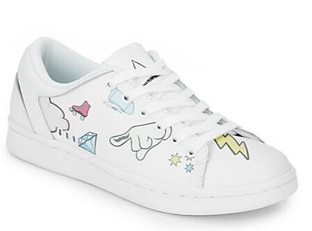 ELEVEN PARIS Mixed Print Leather Lace-Up Sneakers @ Saks Off 5th