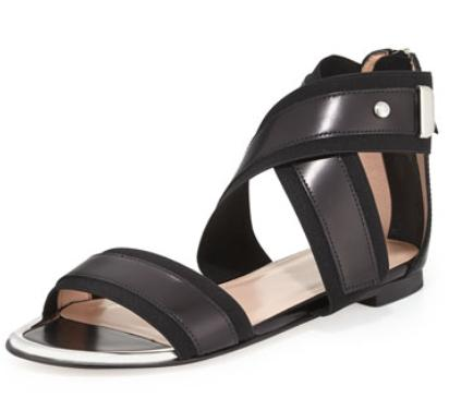 Stuart Weitzman  Expo Wide-Strap Sandal On Sale @ LastCall by Neiman Marcus