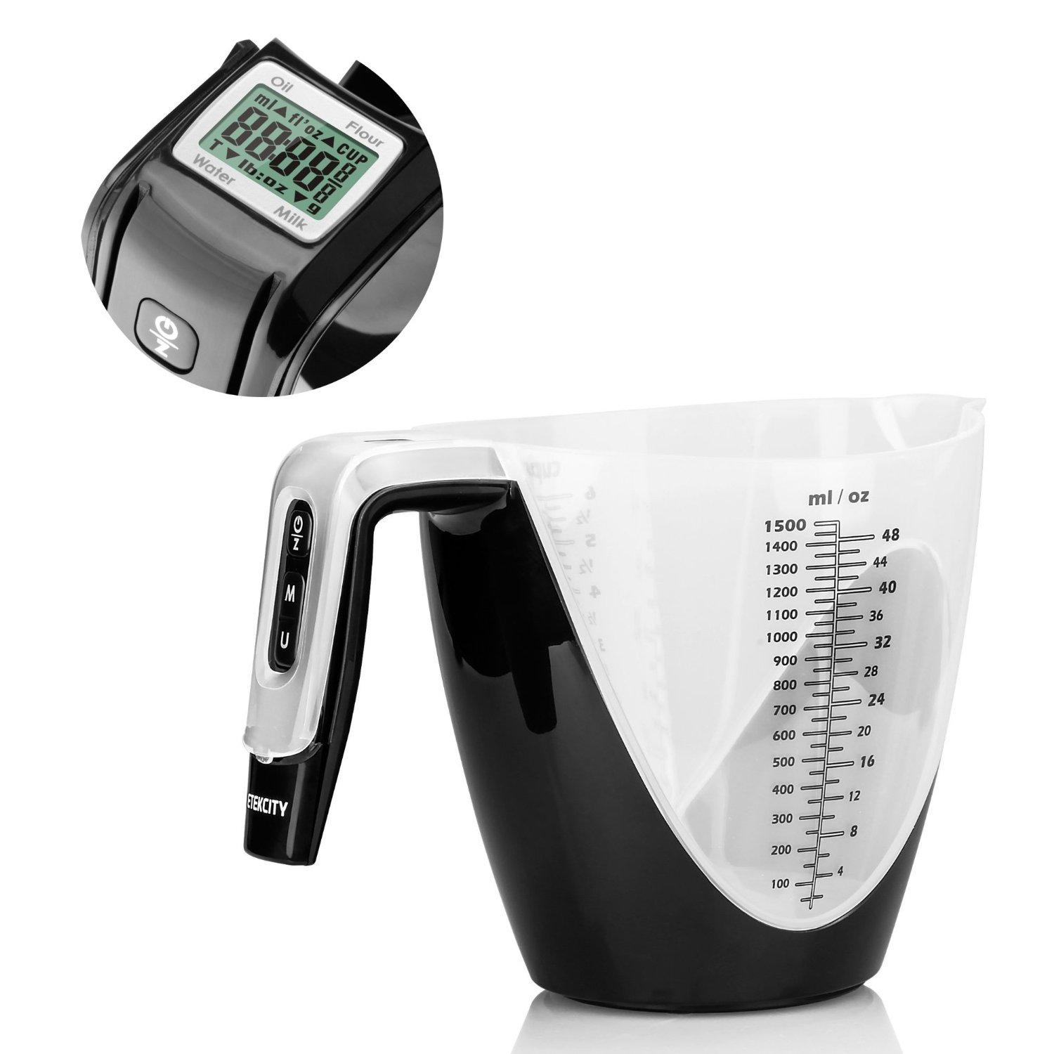 Etekcity® 1/8oz High Accuracy Handy 11lb/5kg Digital Multifunction Kitchen Food/Flour/Milk/Oil/Water Measuring Cup/Scale