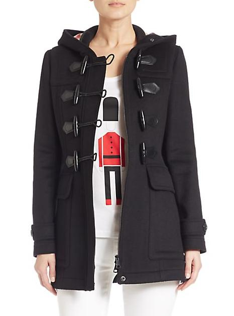 Burberry Brit Blackwell Fur-Trimmed Duffle Coat