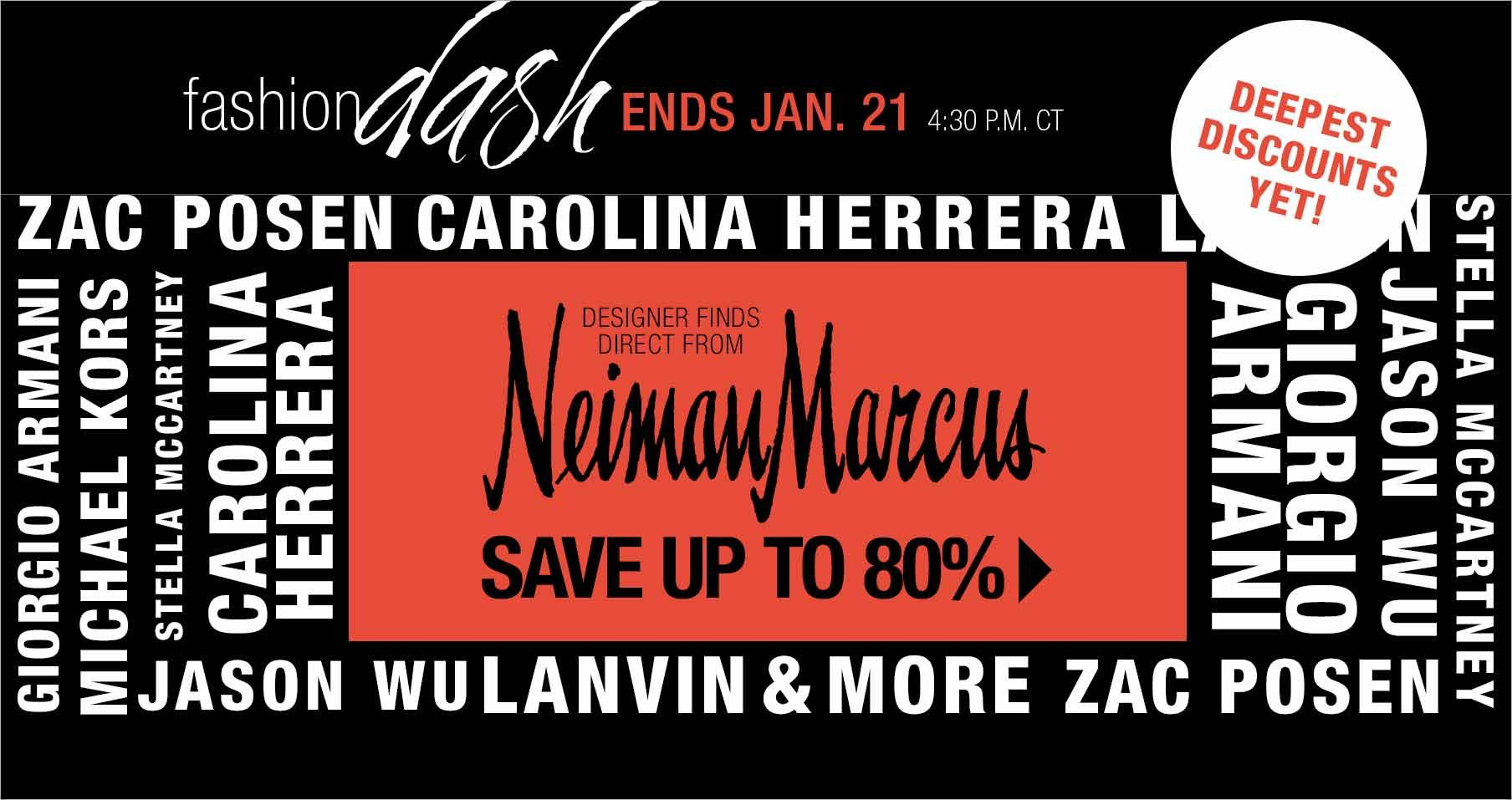 Up to 80% Off Designer's Collection in Fashion Dash at LastCall by Neiman Marcus