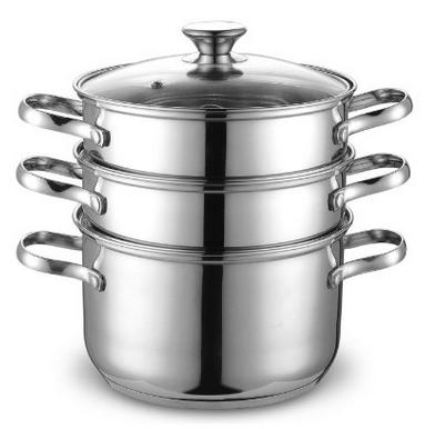Cook N Home NC-00313 Double Boiler and Steamer Set