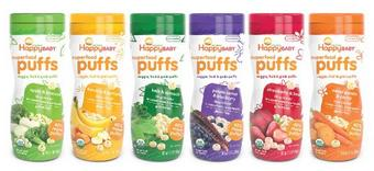 Happy Baby Organic Puff Variety Pack, 6 Count
