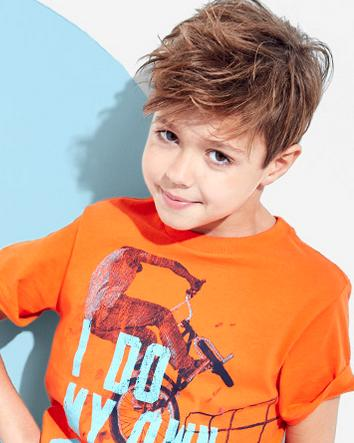 25% Off + Free Shipping Boys Long Sleeve Graphic Tee Clearance @ Children's Place