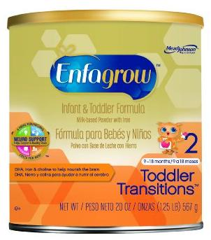 $53.55 Enfagrow Toddler Transitions Infant and Toddler Formula - 20 oz Powder Can (4 pk) @ Amazon