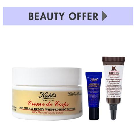 Free 3-piece Gift with any $65 or more Kiehl's Since 1851 purchase @ Neiman Marcus