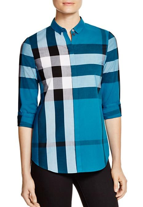 Burberry Brit Check Cotton Shirt On Sale @ Bloomingdales