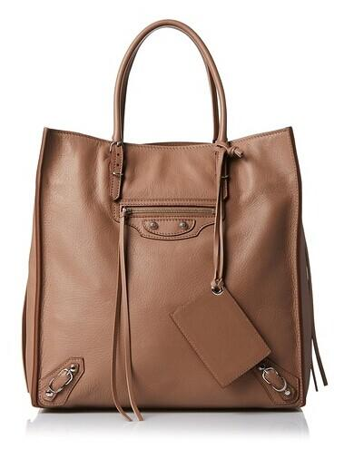 Balenciaga Leather Tote, Beige @ MYHABIT