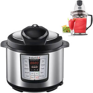 $89.79 Instant Pot IP-LUX50 Stainless Steel 5-Quart 6-in-1 Multi-Functional Pressure Cooker with BONUS Ninja Master Prep