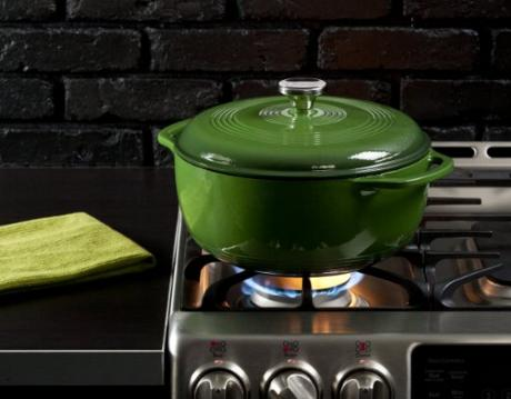 Lodge Color EC6D63 Enameled Cast Iron Dutch Oven, Emerald Green, 6-Quart