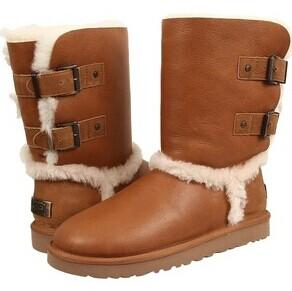 UGG Australia Skylah Shearling-Lined Leather Buckle Boots @ Saks Off 5th