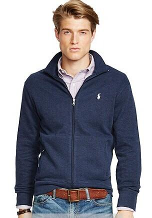 Polo Ralph Lauren® Men's French-Rib Full-Zip Jacket @ Bon-Ton