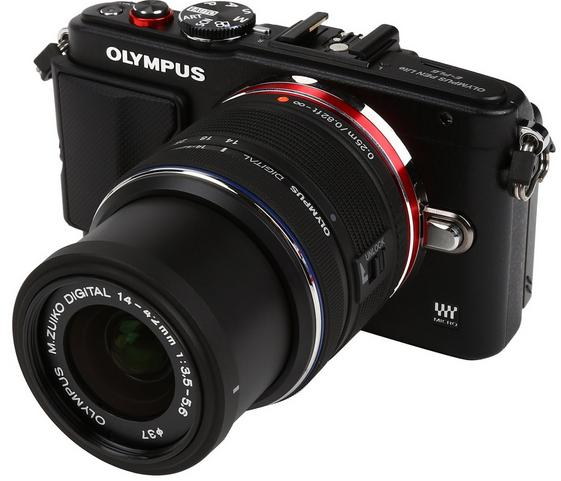 "$249 OLYMPUS PEN E-PL6 16MP 3.0"" Touch LCD Camera with 14-42mm II Lens"