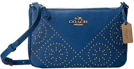 COACH Min Studs Zip Top Crossbody