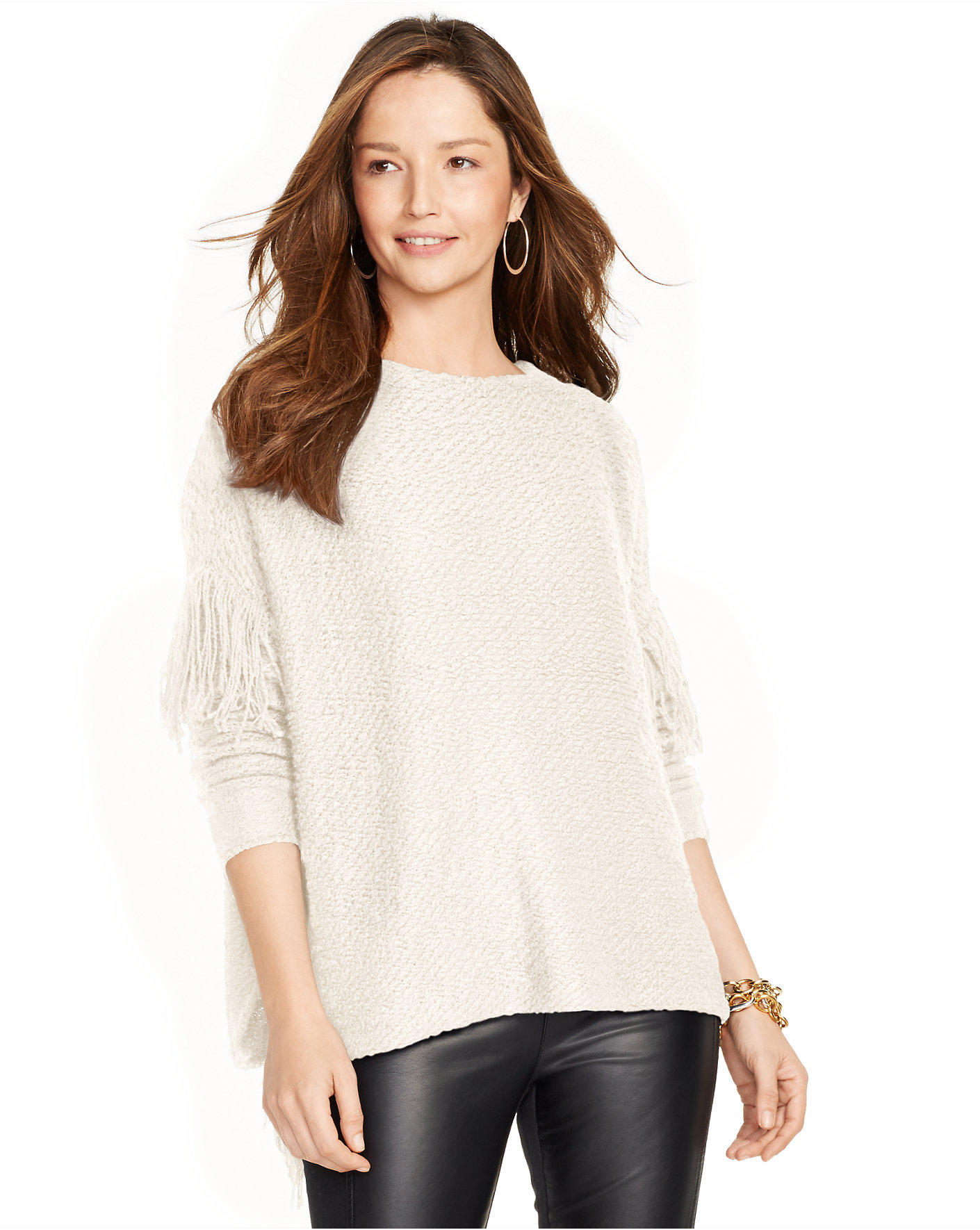 Ralph Lauren Fringed Cotton-blend Sweater