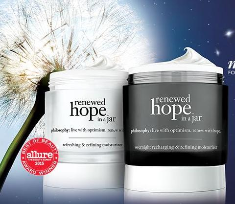 Free Sample of Renewed Hope in a Jar Day With You Fill Out a Short Form @ philosophy