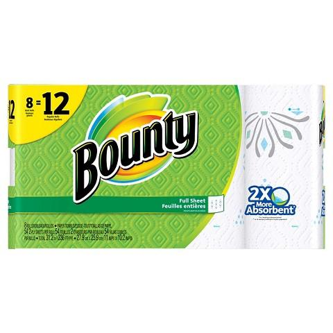 Free $5.00 Gift Card w/Buy two Bounty Paper Towels 8 Rolls
