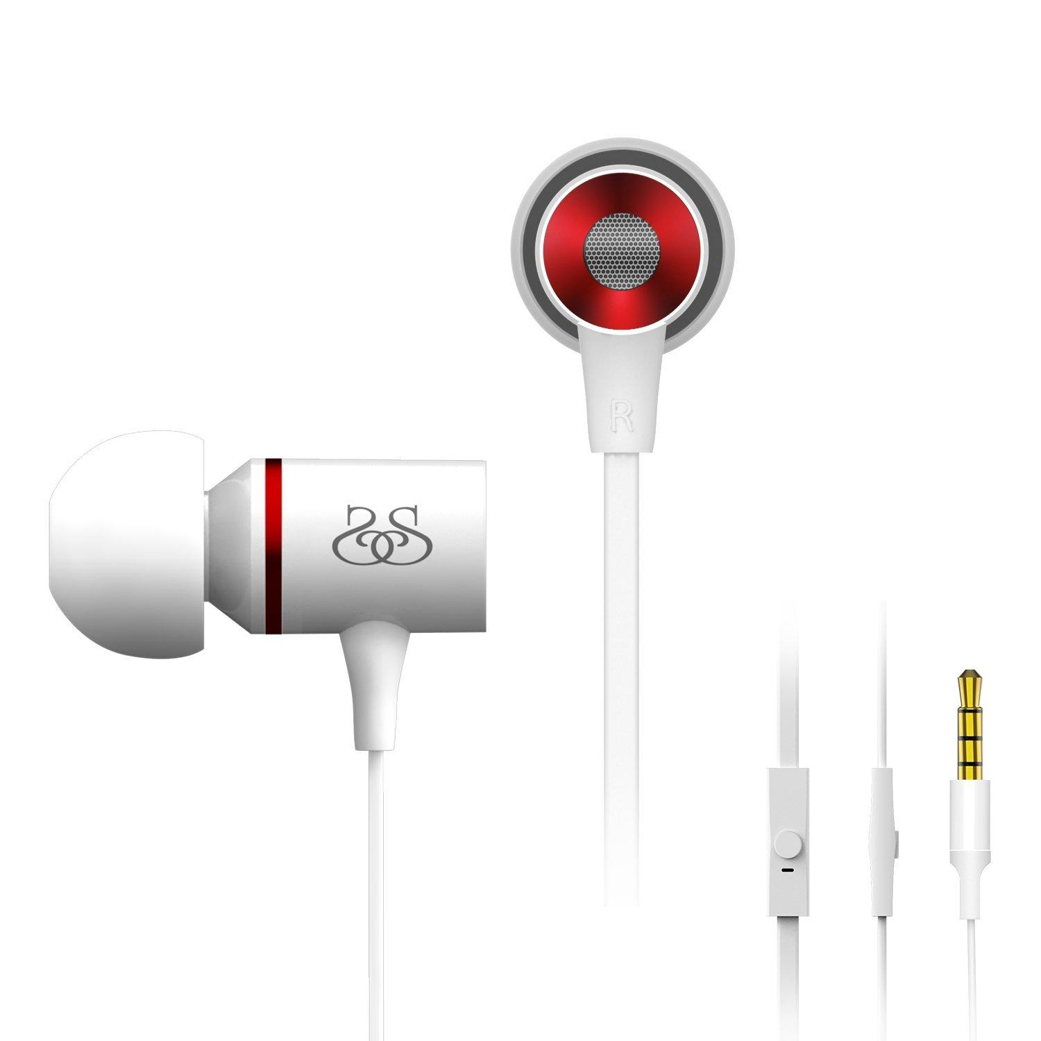 Sound Intone I66 Stereo Metal Earphones Noise Isolating Bass In-ear Headphones with Microphone